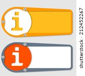 set of two boxes for any text... | Shutterstock .eps vector #212452267
