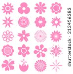 set of vector flowers. can use... | Shutterstock .eps vector #212456383