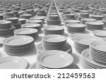 group of dishes on white... | Shutterstock . vector #212459563