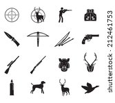 hunting icons set | Shutterstock .eps vector #212461753