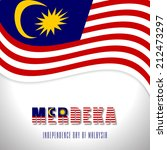 Illustration of Malaysia flag for Hari Merdeka celebration, Independence Day Of Malaysia