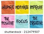 inspire  motivate  improve  be... | Shutterstock . vector #212479507