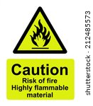 caution risk of fire  highly... | Shutterstock . vector #212485573