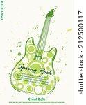 grungy guitar spring rock... | Shutterstock .eps vector #212500117