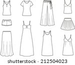vector illustration. set of... | Shutterstock .eps vector #212504023
