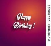 happy birthday card | Shutterstock .eps vector #212508313