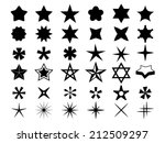 star icons | Shutterstock .eps vector #212509297