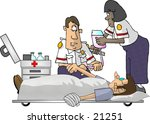clipart illustration of two emt ... | Shutterstock . vector #21251