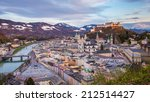 beautiful view of salzburg... | Shutterstock . vector #212514427