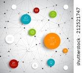 vector abstract circles... | Shutterstock .eps vector #212521747