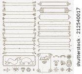 vintage hand drawn design... | Shutterstock .eps vector #212540017