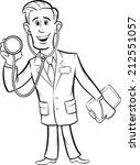 whiteboard drawing   cartoon... | Shutterstock . vector #212551057