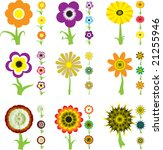 a collection of nine flower... | Shutterstock . vector #21255946