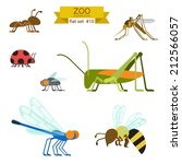 Flat Design Vector Insects And...