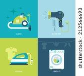 flat design vector illustration ... | Shutterstock .eps vector #212566693
