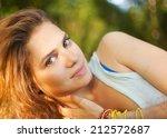 romantic portrait of a... | Shutterstock . vector #212572687