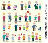 family figures icons set of... | Shutterstock .eps vector #212574313
