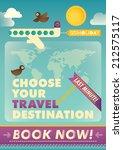 travel advertising poster... | Shutterstock .eps vector #212575117