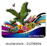 palms background vector | Shutterstock .eps vector #21258406