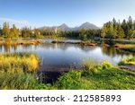 slovakia nice lake   strbske... | Shutterstock . vector #212585893