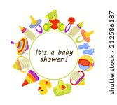 children greeting card. baby... | Shutterstock . vector #212586187