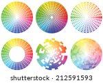 set of color wheels. vector