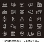 museum icons | Shutterstock .eps vector #212594167