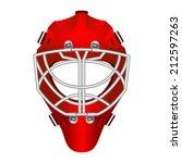 realistic red goalie helmet for ...