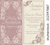 antique baroque wedding... | Shutterstock .eps vector #212597887