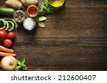 Vegetables On Old Wooden...