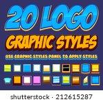 20 comic logo graphics styles | Shutterstock .eps vector #212615287