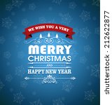 merry christmas inscription and ... | Shutterstock . vector #212622877