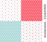 set of seamless patterns | Shutterstock .eps vector #212624503