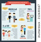 people infographic set with... | Shutterstock .eps vector #212630167