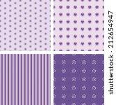 set of nice simple seamless... | Shutterstock .eps vector #212654947