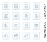 travel web icon set 4  white... | Shutterstock .eps vector #212664607
