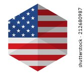 usa flag hexagon flat icon... | Shutterstock .eps vector #212680987