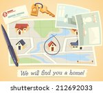 we will find you a home. vector ... | Shutterstock .eps vector #212692033