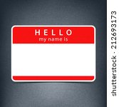 red name tag blank sticker... | Shutterstock .eps vector #212693173