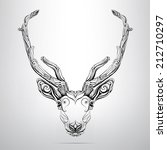 vector deer head in the ornament | Shutterstock .eps vector #212710297