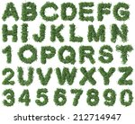Green Alphabet Made Of Trees...