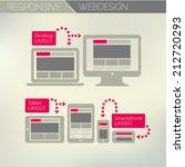 flat style responsive webdesign | Shutterstock .eps vector #212720293