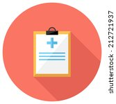 medical record icon. flat... | Shutterstock .eps vector #212721937