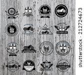 set of vector labels  motorbike ... | Shutterstock .eps vector #212724673
