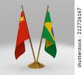 double table flag  partnership... | Shutterstock . vector #212726167