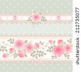 seamless floral background.... | Shutterstock .eps vector #212735077