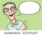 illustration of smiling geek... | Shutterstock . vector #212741227