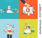 medical flat vector background... | Shutterstock .eps vector #212748877