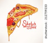 a slice of hand drawn... | Shutterstock .eps vector #212759233