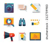 information and media web icons ... | Shutterstock .eps vector #212759983